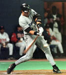 Jose hitting a home run in 1999