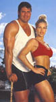 Jose and Jessica Canseco ready for a workout